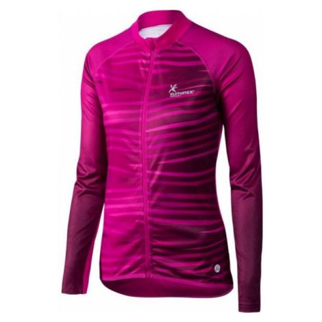Klimatex WAJAN růžová - Dámský cyklistický dres s dlouhým rukávem