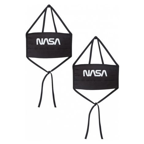 Mister Tee Látková rouška 'NASA' černá