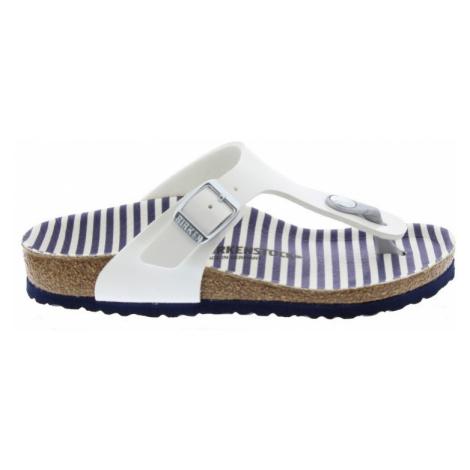 Gizeh Kids BF Nautical Stripes White Birkenstock