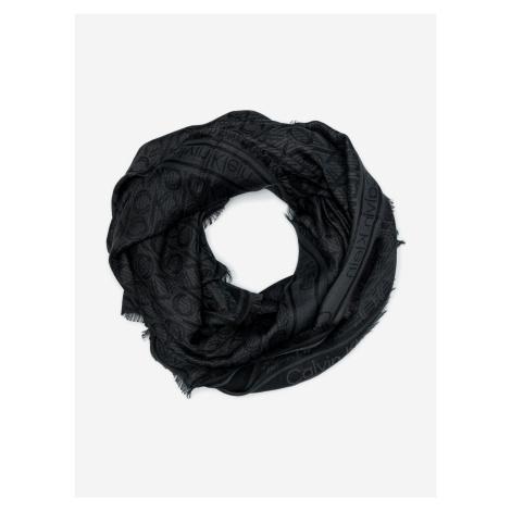 Mono Jacquard Šátek Calvin Klein Černá