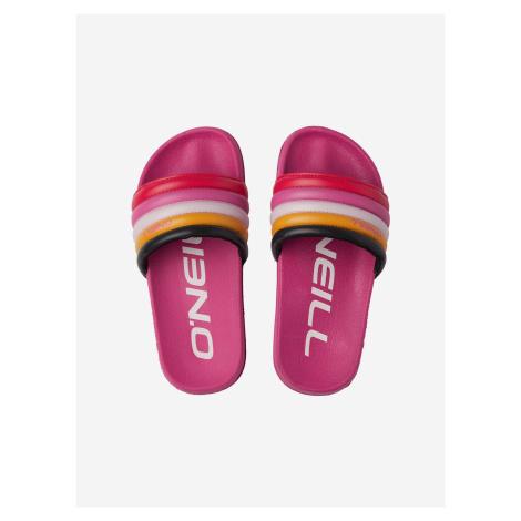 Rainbow Pantofle dětské O'Neill Růžová