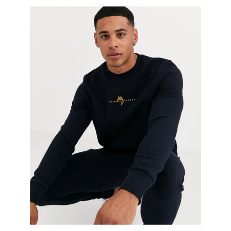 River Island sweat in navy