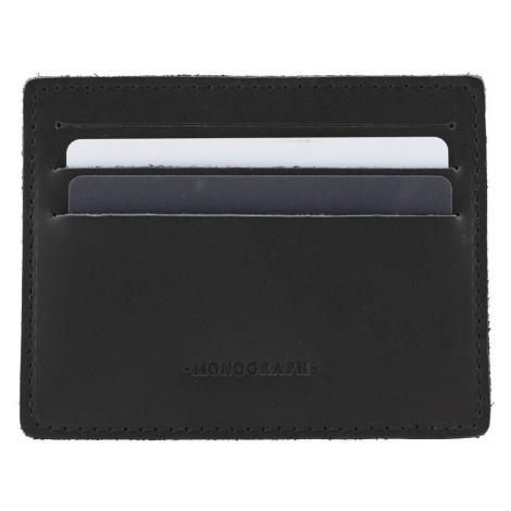 Černé pouzdro na kreditní karty