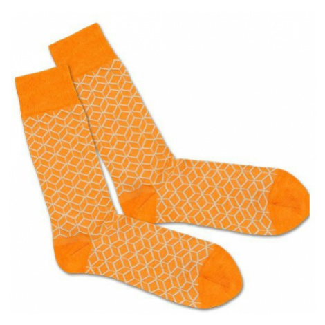 Barevné ponožky – Classic Orange Lining – 41 – 46 DILLY SOCKS