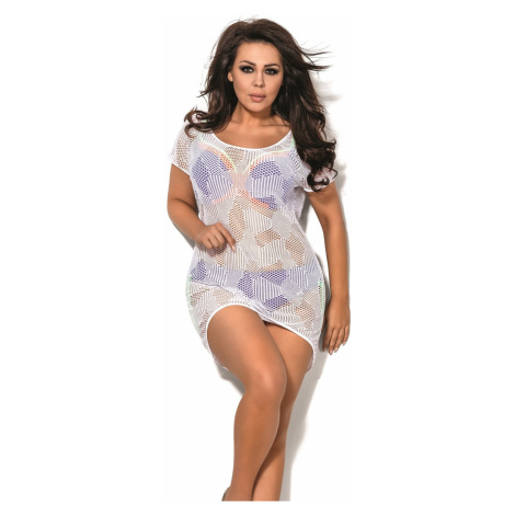Plážové šaty SP1 plus white Avalingerie