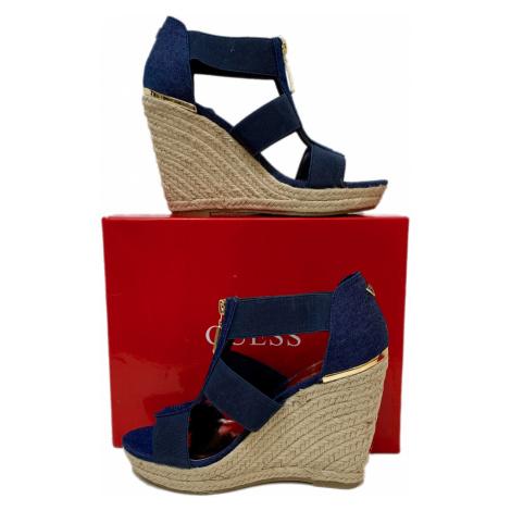 Jeansové sandále Guess