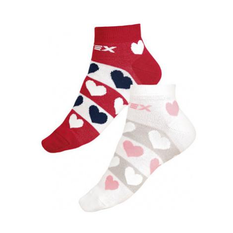 Designové ponožky nízké Litex 9A003 | bílá