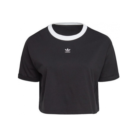Adidas Top Crop (Plus Size) Černá