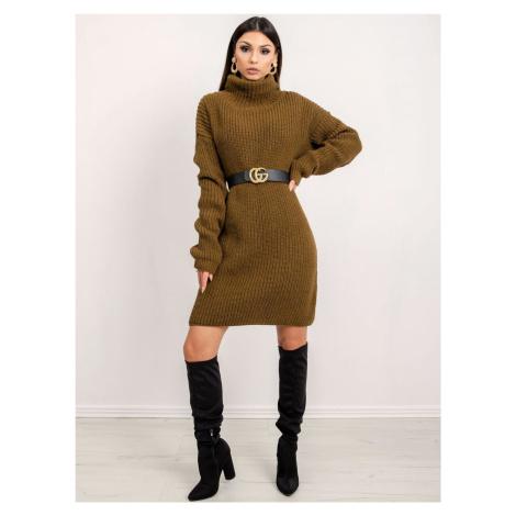 BSL khaki svetrové šaty