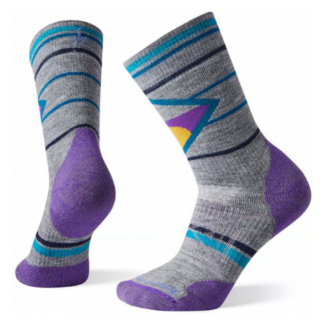 Dámské ponožky Smartwol W PhD Outdoor Medium Pattern Crew lunar grey SmartWool