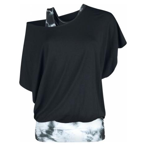 Fashion Victim Batikované tričko dívcí tricko černá