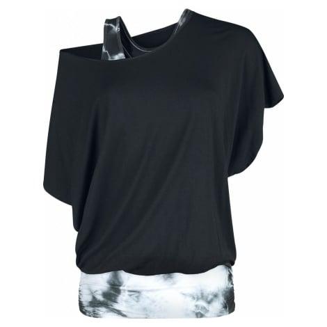 Fashion Victim Batikované tričko Dámské tričko černá