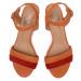 Sandály EKSBUT - 3B-5908-M58/180-1G Pomarańcz
