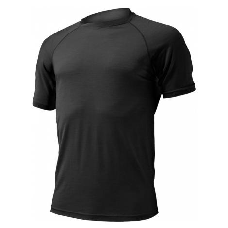Pánské vlněné Merino triko QUIDO 160g - černé Lasting
