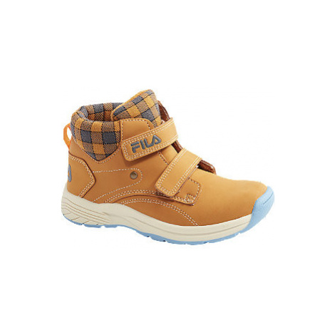 Béžová kotníková obuv na suchý zip Fila