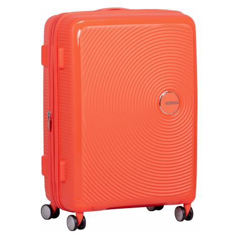 Oranžový kufr na kolečkách American Tourister