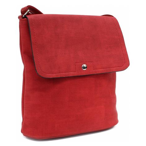 Červená menší dámská crossbody kabelka s klopnou Denisha Tapple