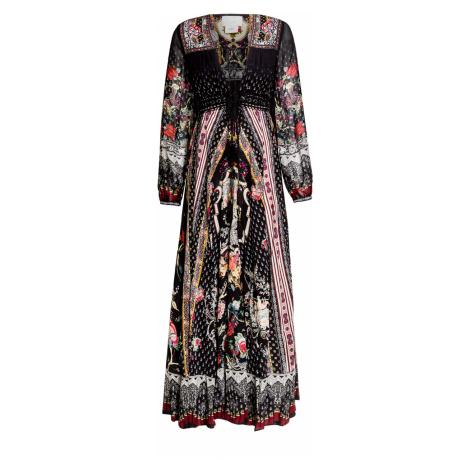 Šaty CAMILLA multicolor vzorkování černá