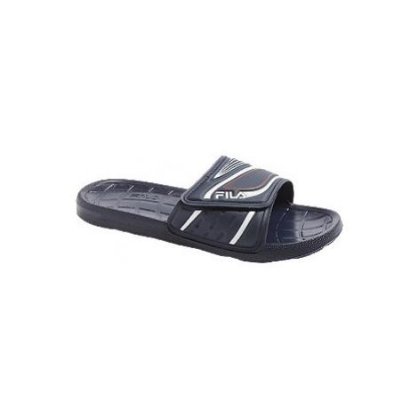 Modré pantofle Fila
