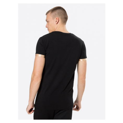 SikSilk Tričko zlatá / černá