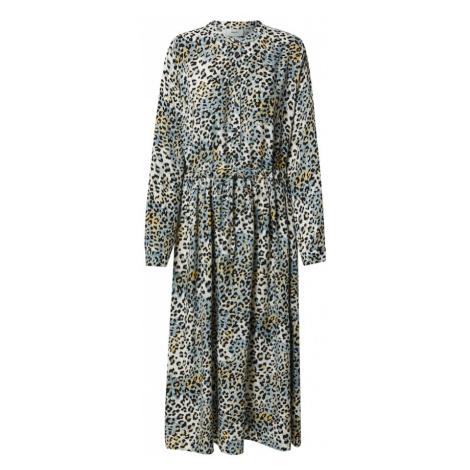 Moves Košilové šaty 'Tanisa' bílá / světle žlutá / pastelová modrá / černá