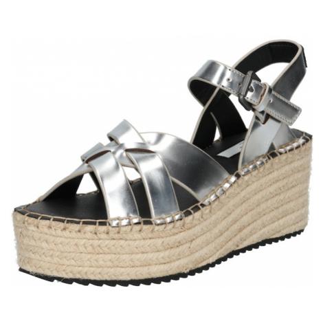 Pepe Jeans Páskové sandály 'WITNEY RIVER 2' stříbrná