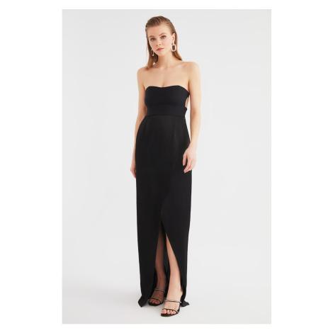 Trendyol Black Neck Detailed Evening Dress & Graduation Gown