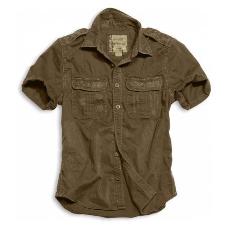 Surplus Košile Raw Vintage Shirt 1/2 hnědá