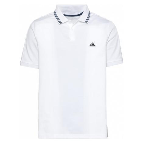 Adidas Golf Funkční tričko 'Go-To' bílá / námořnická modř