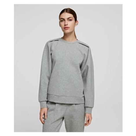 Mikina Karl Lagerfeld Volume Sleeves Sweatshirt - Šedá