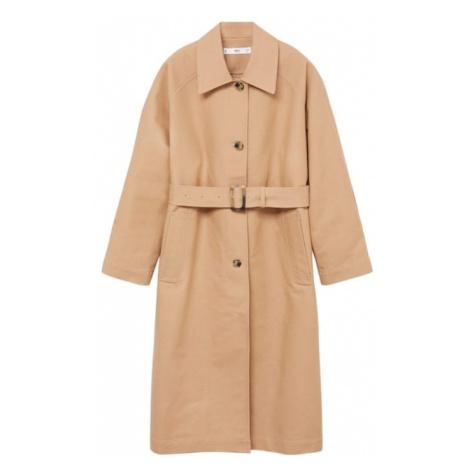 MANGO Přechodný kabát 'Clack' světle béžová