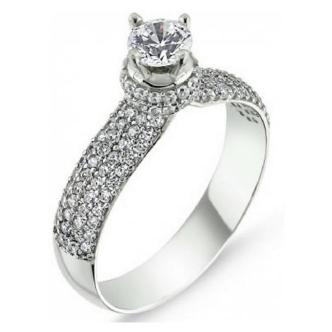 OLIVIE Stříbrný prsten se Swarovski zirkony 1361