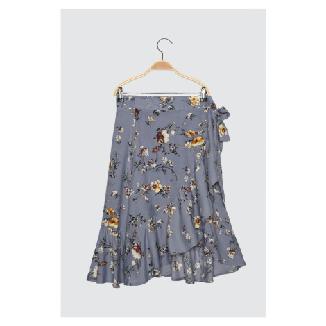Trendyol Petit Skirt with Blue Tie
