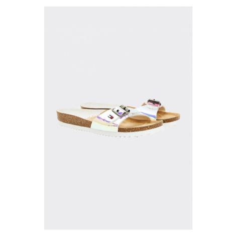 Tommy Hilfiger Tommy Jeans sandále dámské pantofle - metalické