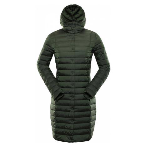 ALPINE PRO KORA Dámský zimní kabát LCTP105505 rifle green