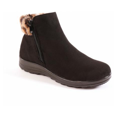 Blancheporte Kotníková obuv s hřejivou podšívkou černá
