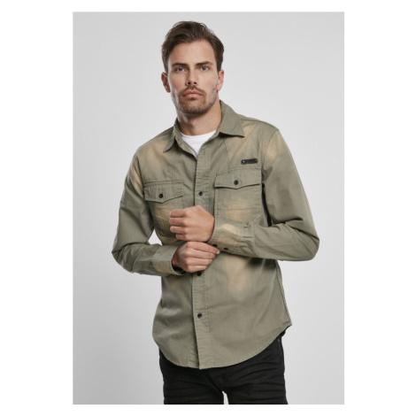 Hardee Denim Shirt - olive grey Urban Classics