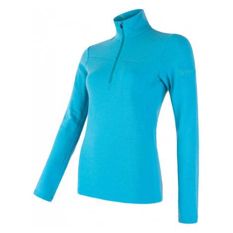 Dámské tričko SENSOR Merino Extreme dl. rukáv zip modrá