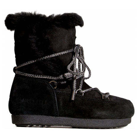 Sněhule Moon Boot FAR SIDE JR GIRL HIGH SHEARLING černá