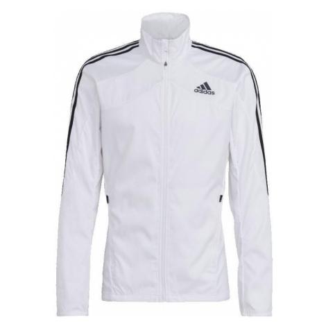 Běžecká bunda adidas Marathon 3 Stripes Bílá / Černá