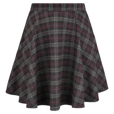 Banned Retro Rozšířená kostkovaná sukně v rockovém stylu Mini sukně šedá/purpurová