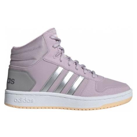 adidas HOOPS MID 2.0 K růžová - Dětská volnočasová obuv