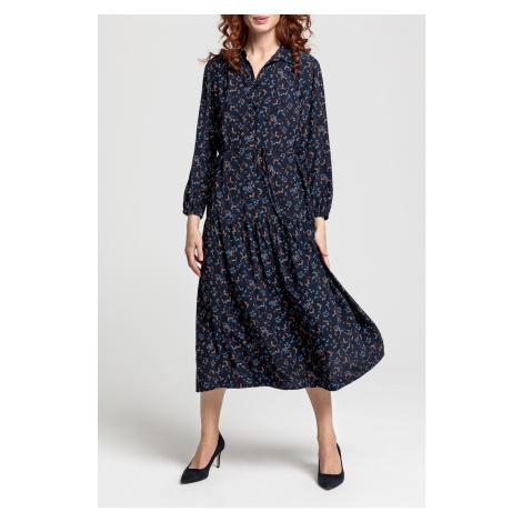ŠATY GANT D1. MULTI FLORAL SHIRT DRESS