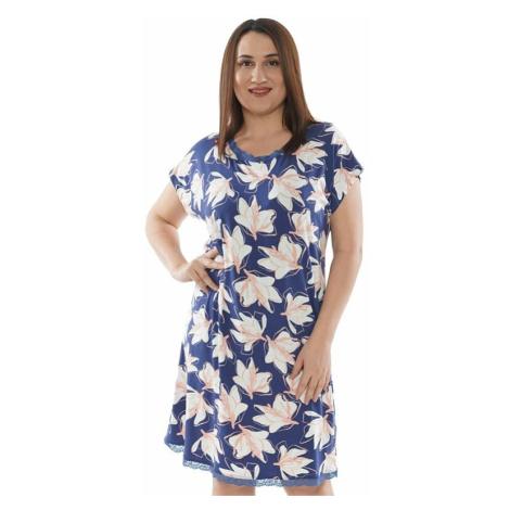 Noční košile Tori modrá s květinami Vienetta Secret
