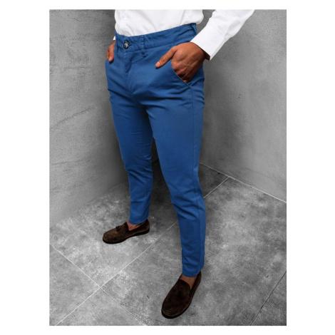 Ozonee Elegantní chinos kalhoty v kobaltově modré barvě JB/JP1143/6
