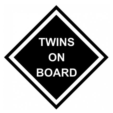 Těhotenské tričko s motivem Twins on board - dvojčátka BezvaTriko
