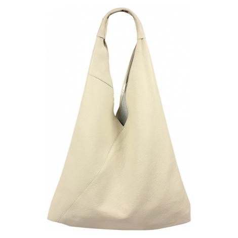 Kožená dámaská kabelka Alma Beige