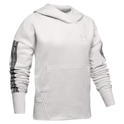 Dětská mikina Under Armour Sportstyle Fleece Bílá / Černá