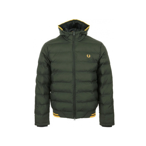 Fred Perry Hooded Insulated Jacket Zelená