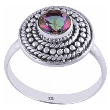 AutorskeSperky.com - Stříbrný prsten s mystickým topazem -  S834